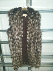 Collection Silver Fox Fur Vest New Large Luxurious