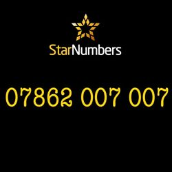 Exclusive Uk Vip Unique Gold Special Rare Easy Fancy Mobile Numbers 07862007007