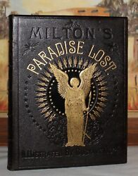 Milton's Paradise Lost/gustave Dore/holy War Full Leather Fine Binding Folio 13