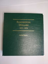 Littleton Custom Coin Albums - Lot Of 4 - Eisenhower Lincoln Franklin And Silver