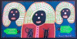 Richard Burnside African-american Painter Egyptian King And Queens/ 4and039x2and039 Plywood
