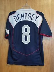 Nike Usa Us Soccer Usmnt 2004/2005 Away Jersey Player Issue Clint Dempsey 8 M