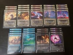 Mtg Zendikar Rising 4 Lotus Cobra Ruin Crab Showcase 22/24 Showcase Playsets.