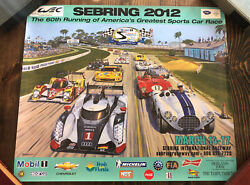2012 12 Hours Of Sebring Mobile1 Imsa 60th Annual March 14-17 Poster A5