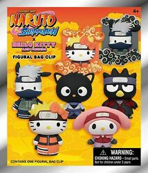 Naruto X Hello Kitty And Friends 3d Figural Keyring Blind Bag