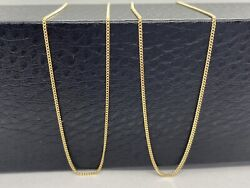 Solid Gold Curb Chain 1.2mm 10k 14k 18k Solid Yellow Gold Curb Chain