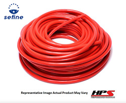 Hps 1 Id Red High Temp Reinforced Silicone Heater Hose Tubing - 100 Feet Roll