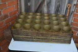 Lot Of 12 - Lockwood Heavy Duty Commercial 24 Cup Restaurant Muffin Cupcake Pans