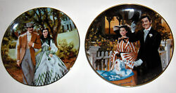 Gone With The Wind Plate---bradford Exchange-strolling In Atlanta-home From Tara