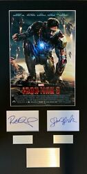 Iron Man 3 Robert Downey Jr Marvel Film Hand Signed Mounted Frame