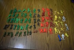 Huge Lot Of Plastic Army Men, Cowboys, Indians Marx, Mpc, Timmee More Vintage