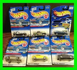 Unopened Boxes Vintage Hot Wheels Toy Cars New In Packaging Lot Of 6