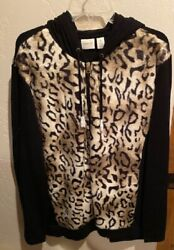 Chicos Faux Fur Vests And Hooded Jacket Size 4