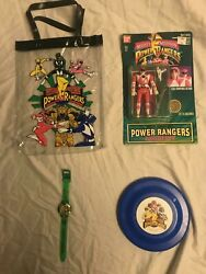 Vintage 1990s Bandai Power Rangers Collectables.nos Kimberly Tommy Watch Toys
