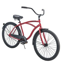 Menand039s 26 Beach Cruiser Bike Perfect Fit Steel Frame Comfort Ride Many Colors
