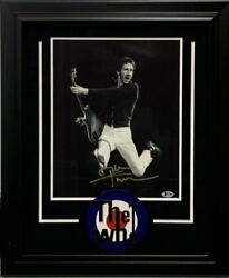 Pete Townshend Signed 11x14 Photo Custom Frame The Who Authentic Autograph Bas