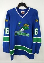Rare Wisconsin Rapids Riverkings Embroidered Hockey Jersey Men's Size Xl