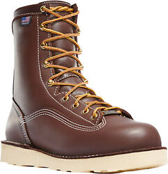 Danner Power Foreman Mens Brown Leather 8in Gtx Work Boots
