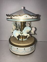 Rare 1991 House Of Lloyd Horse Carousel Music Box Tested And Working