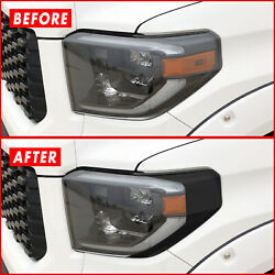 For 14-21 Toyota Tundra Headlight Side Marker Gloss Black Precut Vinyl Overlays