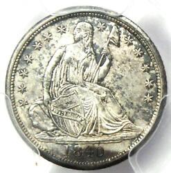 1840 Seated Liberty Half Dime H10c No Drapery. Pcgs Uncirculated Detail Unc Ms