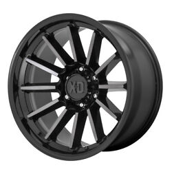 Xd Series Xd855 Luxe 17x9 6x139.7 Et0 Gloss Black Machined/gray Tint Qty Of 4