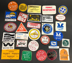 1980's Coal Mining Mine Hard Hat Stickers Decals Lot Of 30 Local Wv Usa Rish A6
