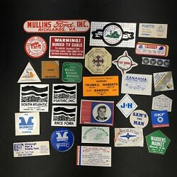 Lot Of 30 1980s Coal Mining Miner Hard Hat Trucker Stickers Decals Ads Usa A10