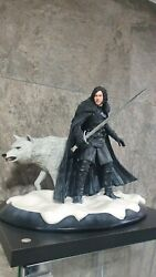 Game Of Thrones Jon Snow And Ghost Statue Limited Edition
