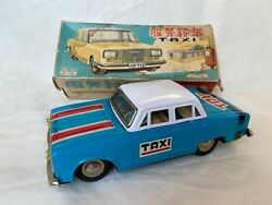 Me No. 713 Taxi Car China Battery Tin Toy Blechspielzeug Boxed Rare