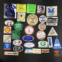 1980's Coal Mining Mine Hard Hat Stickers Decals Lot Of 30 Local Wv Usa Va A9