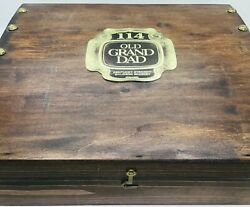 Old Grand Dad Whiskey Wooden Box Case 114