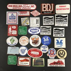 Lot Of 30 1980s Coal Mining Miner Hard Hat Trucker Stickers Decals Vtg Usa A12
