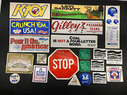 Lot Of 21 1980s Coal Mining Miner Hard Hat Trucker Stickers Decals Vtg Usa A14