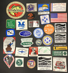 Vtg Coal Mining Mine Hard Hat Stickers Decals Lot Of 30 Wv 1980s Trucking Usa A5