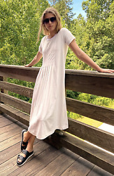 Free People FP Beach On Repeat White Maxi Tee T Shirt Dress Size XS $59.99