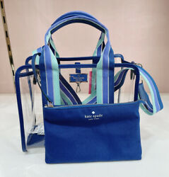 NWT Kate Spade CLEAR SAM Bag Crossbody Tote in Navy $129.00