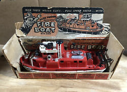 Ideal Fire Boat With Partial Box - In Untested Condition