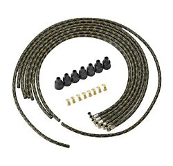 1946 Dodge Car And Truck Spark Plug Wires Black And Gold Lacquer Wire Set Mopar
