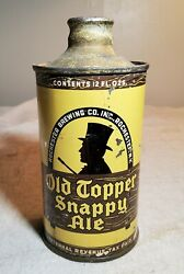 Vintage Old Topper Snappy Ale Conetop Beer Can Rochester Brewing Co Rochester Ny