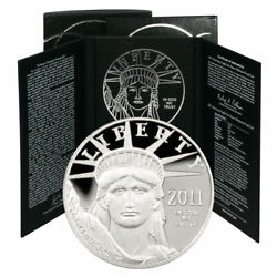 2011-w American Eagle Platinum 1 Oz Proof Coin In Sealed Us Mint Box