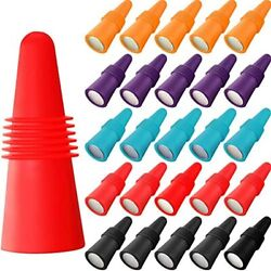 20 Pieces Wine Bottle Stopper Silicone Sealer Beverage Plug And Rubber Saver For