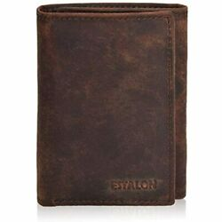 RFID Wallets For Men Real Leather Small Slim Vintage Travel Trifold Mens Store $22.81
