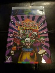 Killer Klowns From Outer Space Bluray Movie 1988 With Slipcover + Poster Arrow