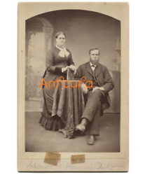 Antique Victorian Cabinet Card Photo Named Subjects Durgan - Plattsburgh Ny