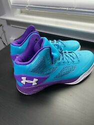 UNDER ARMOUR CLUTCHFIT DRIVE 2 MENS BASKETBALL Sz 8.5 HORNETS TEAL 1258143 405 $39.99