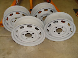 1966 Porsche Four Kpz All Matching Numbers Size 4 1/2x15 No Curb Rash Or Dings