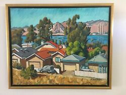 Ken Christensen Painting - Los Osos Houses With Morro Rock