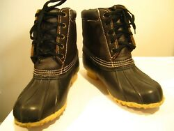 women#x27;s TOTES boots size 8 M black brown steel shank EUC $19.99