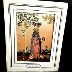 Antique Bianchini-ferier Picture Print On Silk Marked Fin Xiv Sieand039cle 1920s
